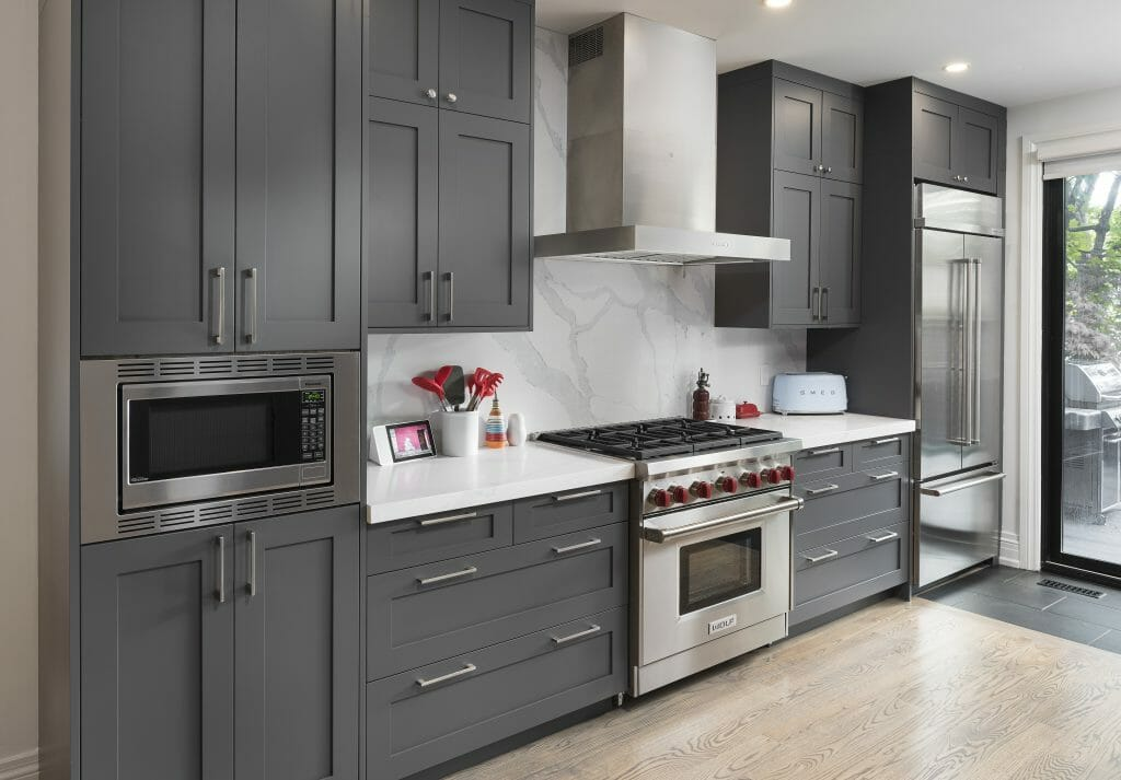 Bain ave project shaker grey kitchen cabinets